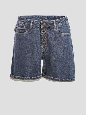 Short regular en jean denim brut femme
