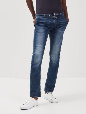 Jeans straight delave denim brut homme
