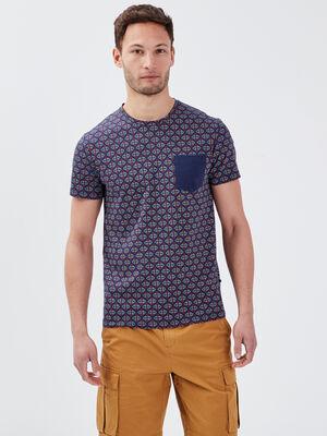 T shirt eco responsable bleu marine homme