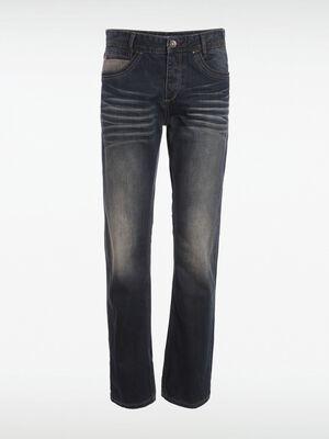 jeans regular homme effet bleached denim dirty