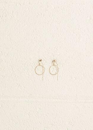 Boucles doreilles anneaux couleur or femme