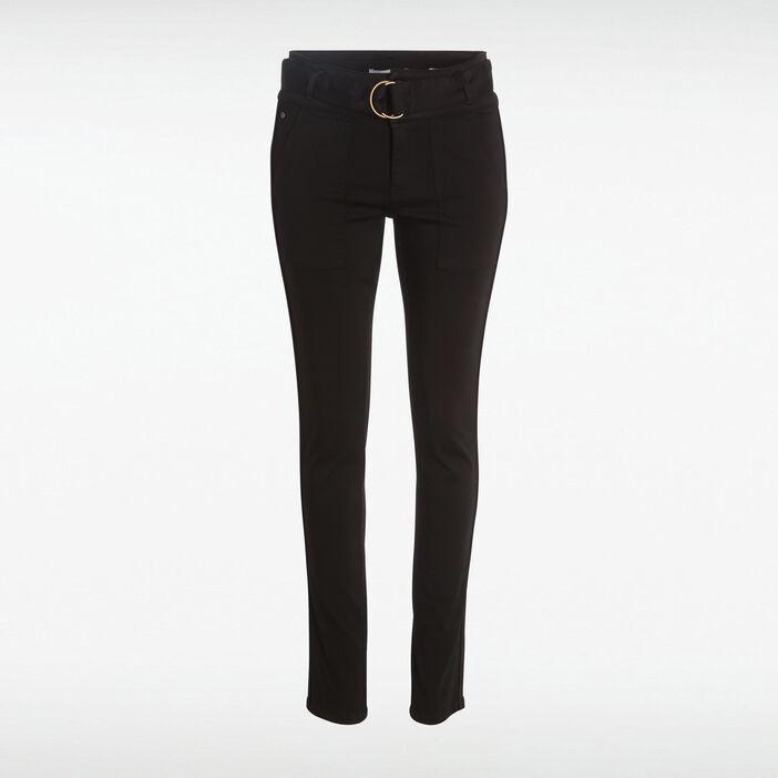 e88b31f3ef514 Pantalon toile noir femme | Vib's