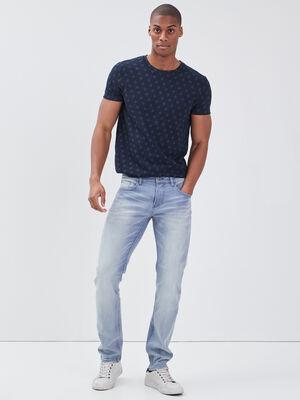 Jeans slim delave denim bleach homme