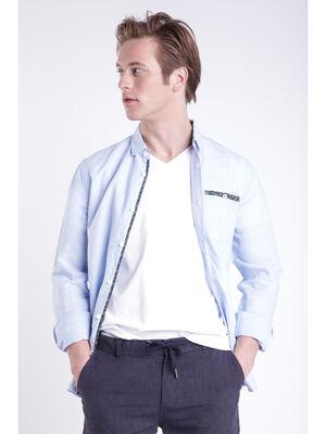 Chemise bleu clair homme