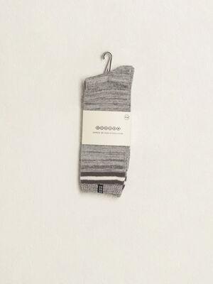 Chaussettes a bandes gris fonce homme