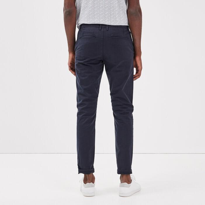 Pantalon slim Instinct chino bleu foncé homme