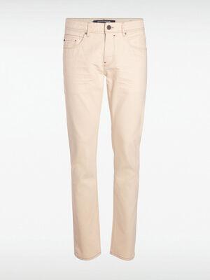 Pantalon droit effet denim ecru homme