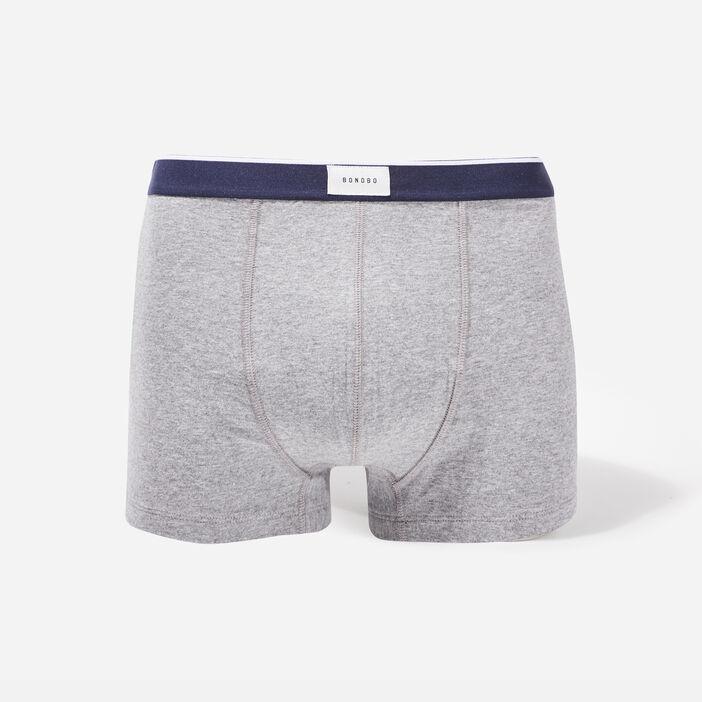 Lot 2 boxers gris foncé homme