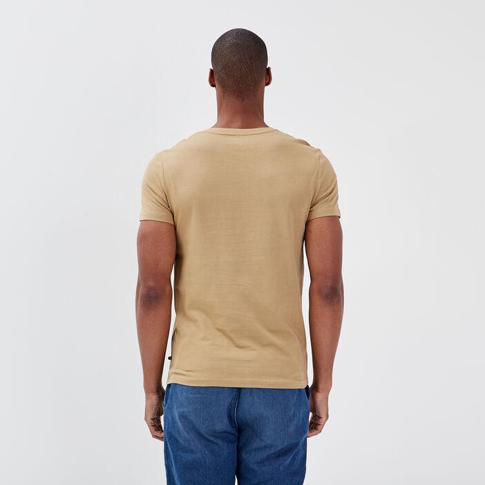 T-shirt éco-responsable beige homme