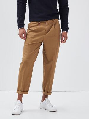 Pantalon chino avec porte cles vert kaki homme