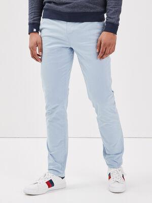 Pantalon slim Instinct chino bleu clair homme