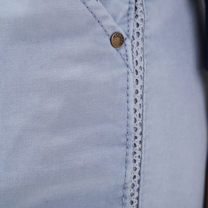 Pantalon chino Instinct bleu clair femme