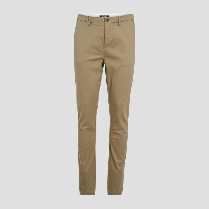 Pantalon éco-responsable vert kaki homme