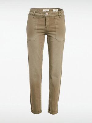 Pantalon Instinct slim vert kaki femme