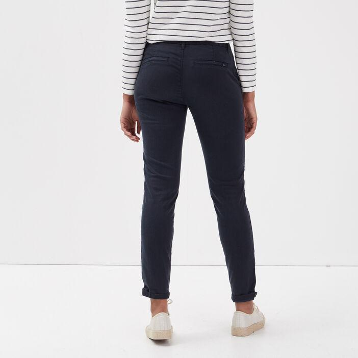 Pantalon chino Instinct bleu foncé femme