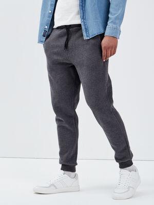 Pantalon jogging gris fonce homme