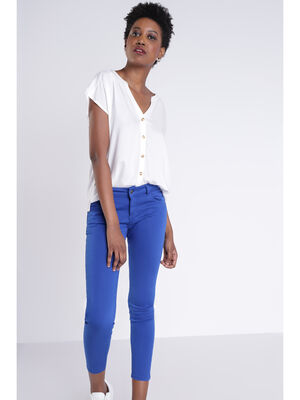 Pantalon Instinct skinny bleu femme