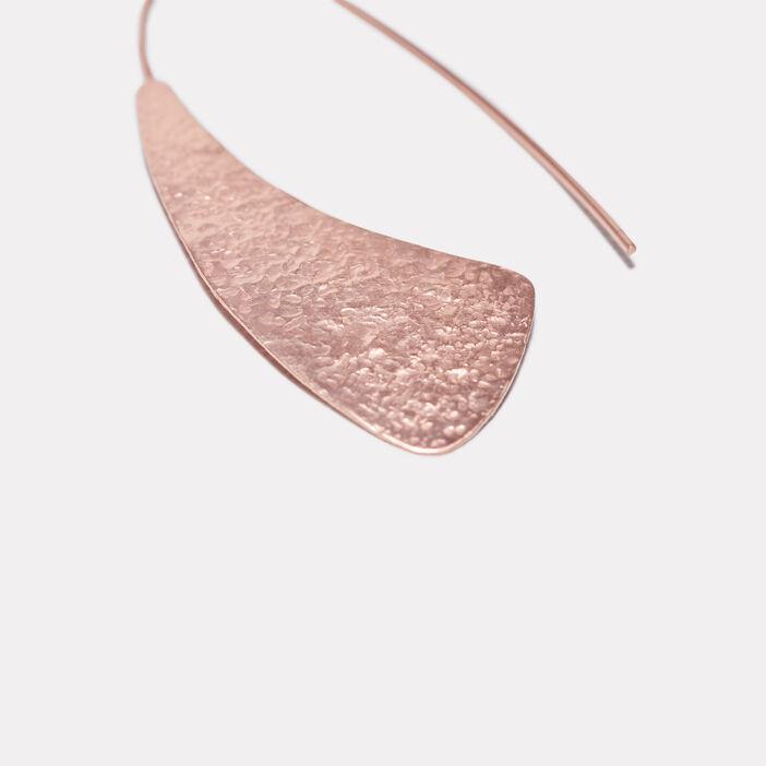 Boucles d'oreilles pendantes couleur cuivre femme