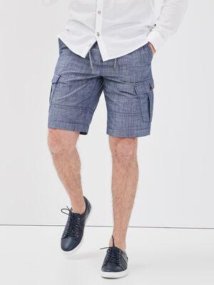 Short droit poches laterales denim stone homme