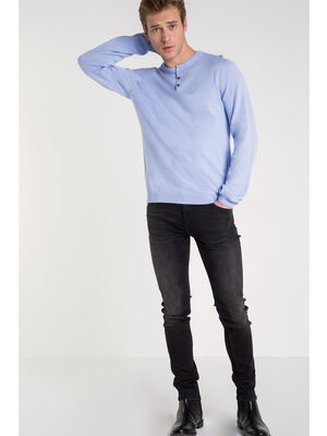 Jeans skinny used L32 denim noir homme