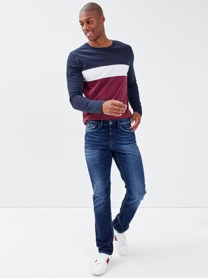 Jeans straight denim blue black homme