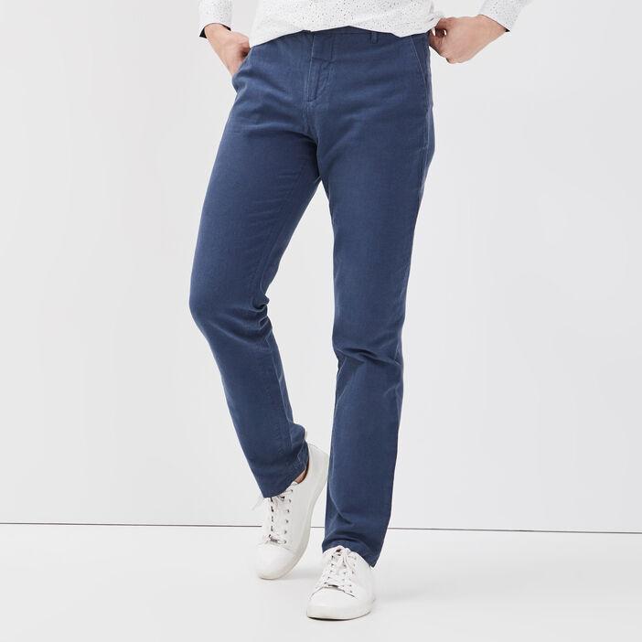 Pantalon chino éco-responsable bleu foncé homme