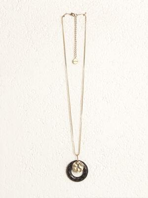 Collier pendentif anneau couleur or femme