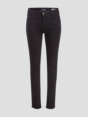 Jeans slim effet push up denim noir femme