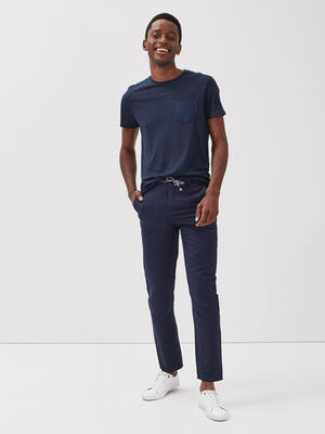 Pantalon eco responsable bleu fonce homme