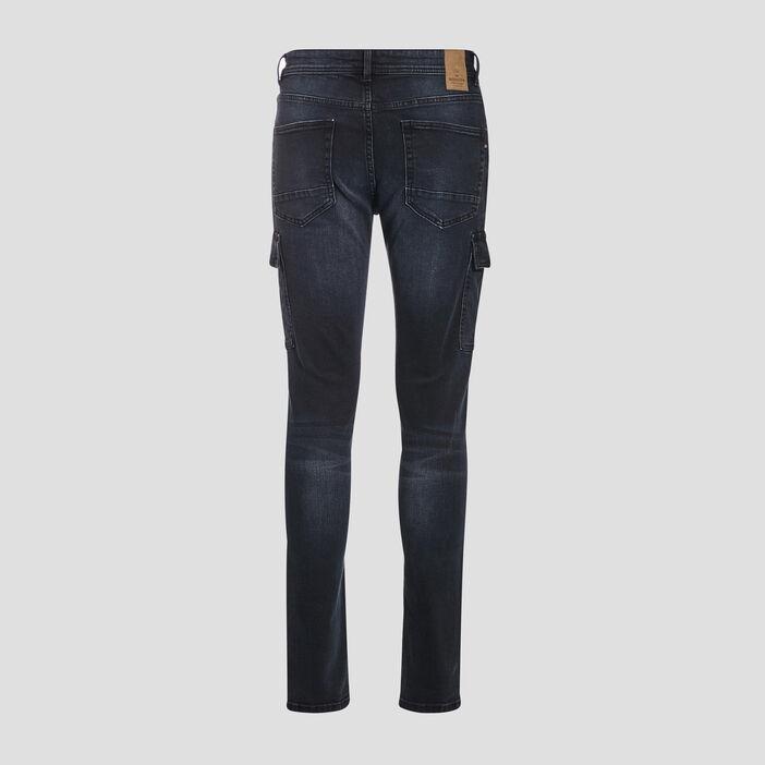 Jeans slim éco-responsable denim blue black homme