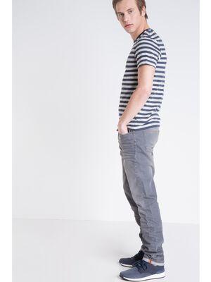 jeans slim homme denim gris enduit