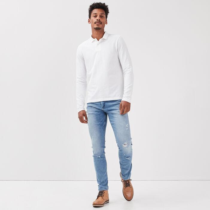 Jeans skinny éco-responsable denim stone homme