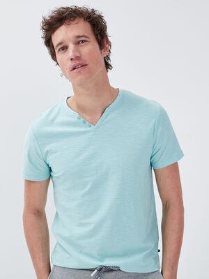 T shirt eco responsable bleu ciel homme