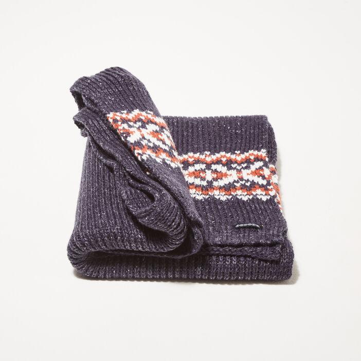 Écharpe tricotée bleu marine homme
