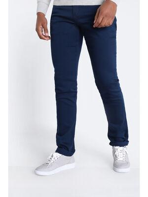 Jeans straight 5 poches denim blue black homme