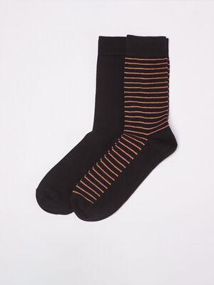 Lot 2 paires de chaussettes marron fonce homme