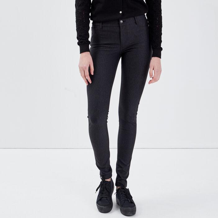 Pantalon tregging noir femme