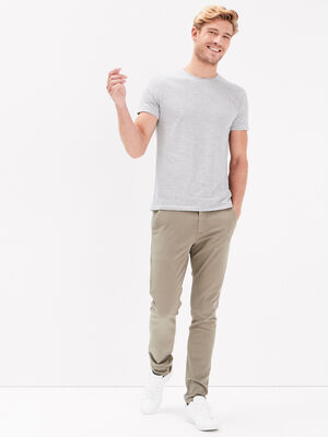 Pantalon chino eco responsable vert kaki homme