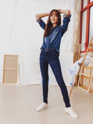 Jeans skinny eco responsable denim stone femme