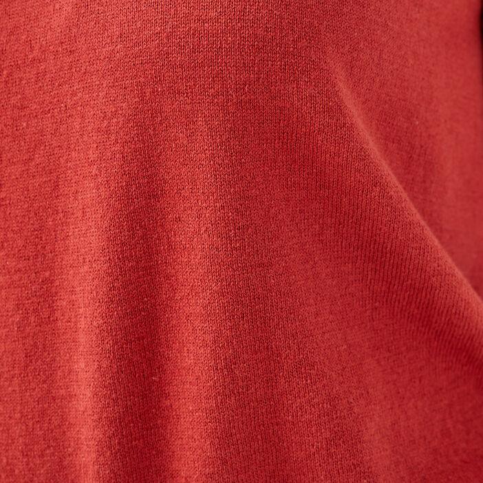 Pull éco-responsable orange foncé femme