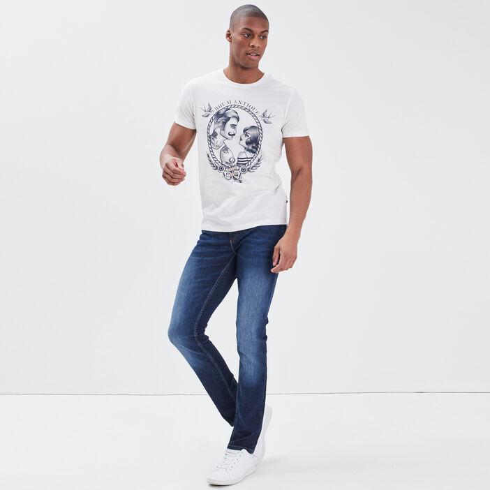 Jeans slim éco-responsable denim brut homme
