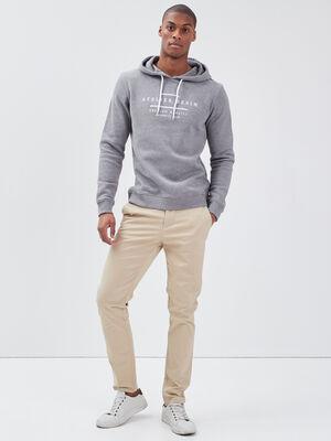 Pantalon eco responsable beige homme