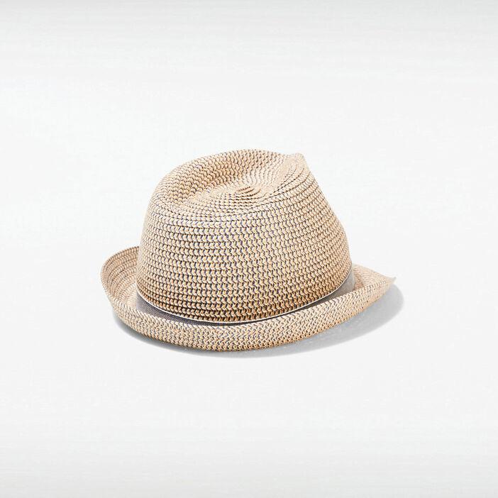 Chapeau détail bande sable homme