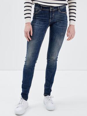 Jeans Marylin  skinny push up denim brut femme
