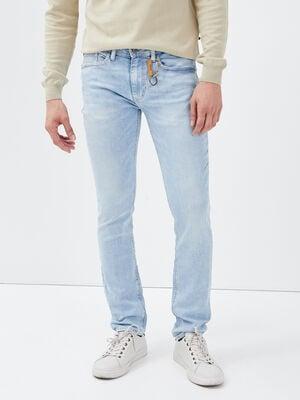 Jeans slim eco responsable denim bleach homme