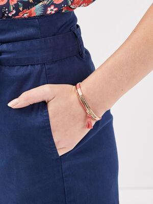 Lot 2 bracelets joncs couleur or femme
