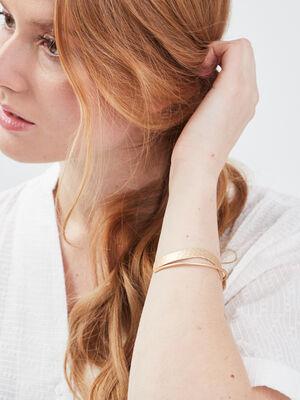 Bracelet jonc martele couleur or femme