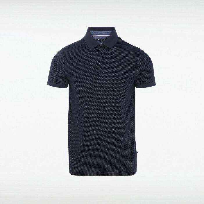Polo Instinct manches courtes bleu marine homme