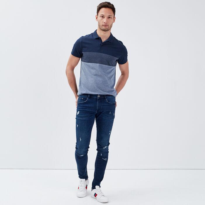 Jeans skinny éco-responsable denim brut homme