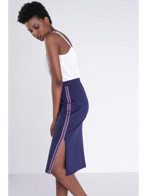 Jupe longue bleu fonce femme